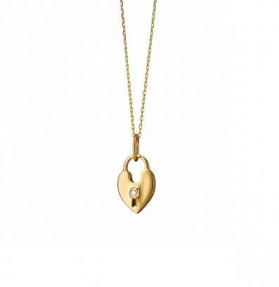 Monica rich kosann 18k yellow gold heart shaped lock charm necklace monica rich kosann 18k yellow gold heart shaped lock charm necklace aloadofball Choice Image