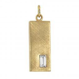 f055279451d Julez Bryant 14K Yellow Gold Baguette Diamond Small Bar Pendant