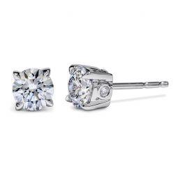 Diama 18k White Gold Swarovski Created Diamond Essential Stud Earrings