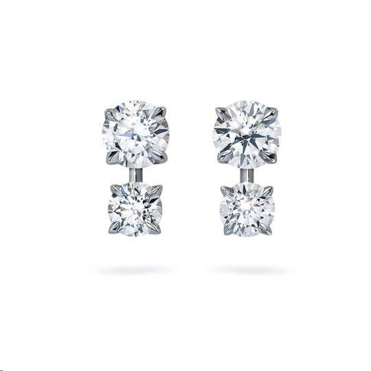0d62d60d95e1 DIAMA 18K White Gold Intimate Swarovski Created Diamond Earrings ...