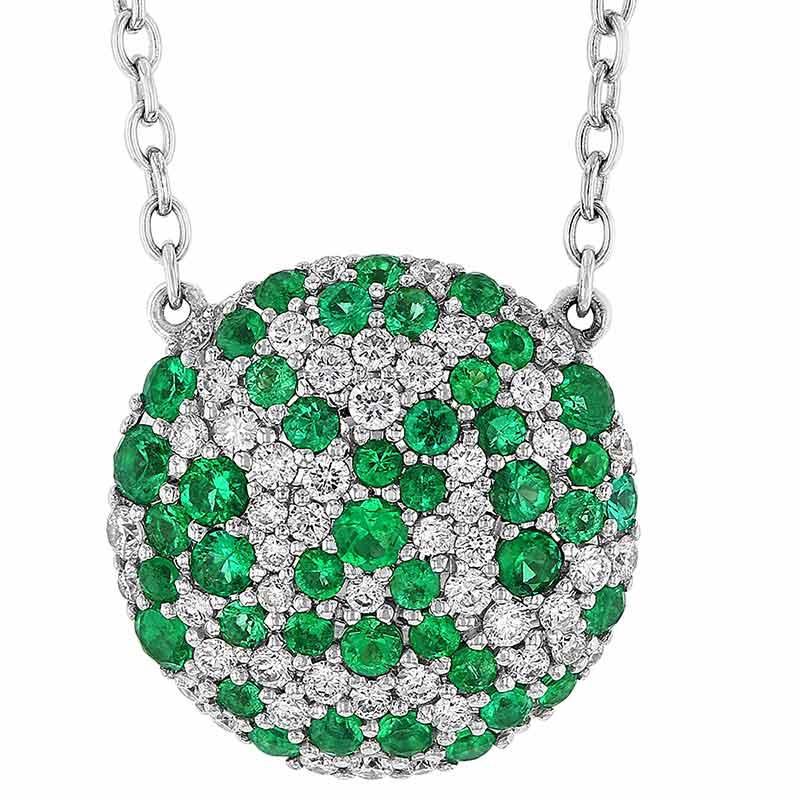 Diamond Pave Baguette Emerald Dangle Pendant Sterling Silver Wedding Jewelry New