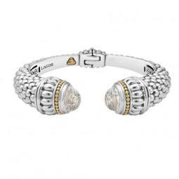 Lagos Caviar Gemstone Hinge Cuff Bracelet AmF1e0XQVE