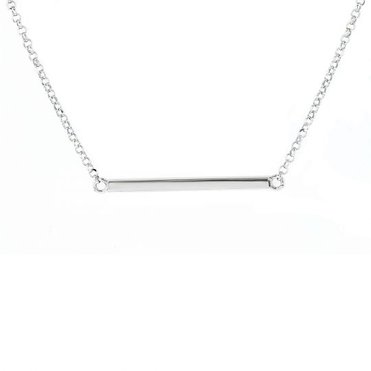 Sterling Silver Bar Necklace ecd20905d