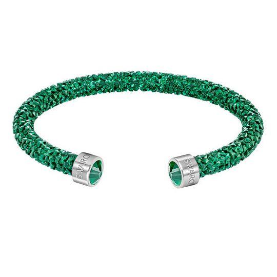 Swarovski Crystaldust Green Crystal Cuff Bracelet, Medium