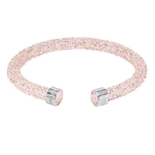 Swarovski Crystaldust Pink Crystal Cuff Bracelet, Medium