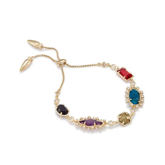 7c4bcb9c9 Kendra Scott Alicia Brass Multi-color Gem Adjustable Bracelet | Borsheims