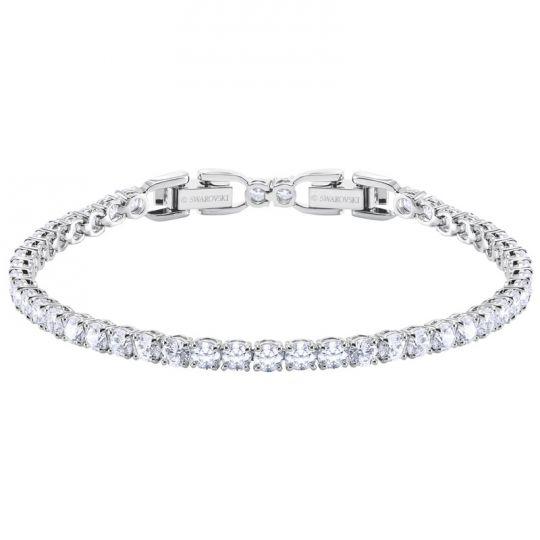 4e038bc1dd3 Swarovski Tennis Round Deluxe Bracelet, White Crystal & Rhodium plating |  Borsheims