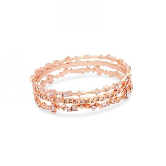 c030674a8 Kendra Scott Malia Rose Gold Bangle Bracelet Set in Blush Mix | Borsheims