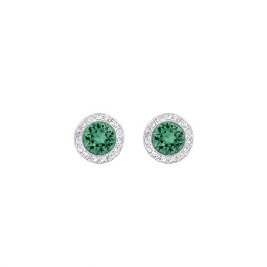 d1a29b2ae Swarovski Angelic Green & Crystal Pave Halo Stud Earrings | Borsheims
