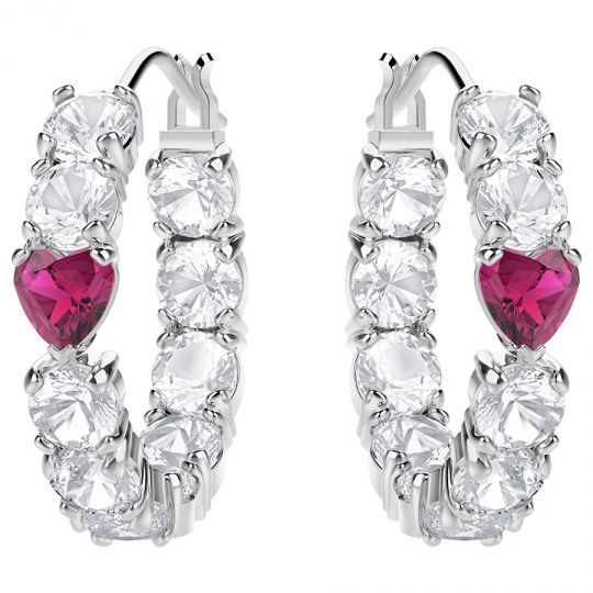 b4eab789b Swarovski Love Hoop Pierced Earrings, White | Borsheims