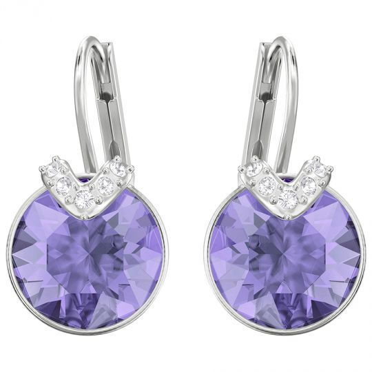 e4b7f0cf70285e Swarovski Bella Pierced Tanzanite Crystal Earrings