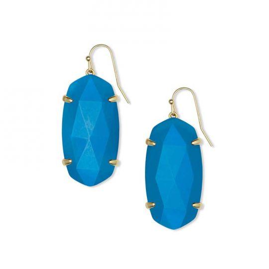 6a979d92828 Kendra Scott Esme Gold Drop Earrings in Teal Agate