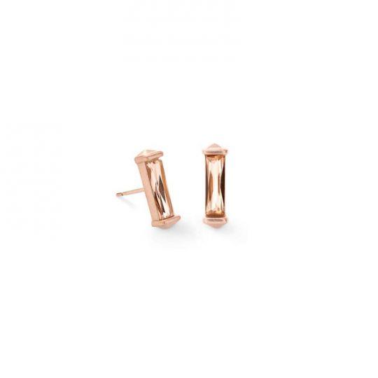 a651414e6207 Kendra Scott Fletcher Rose Gold Stud Earrings in Blush Crystal   Borsheims