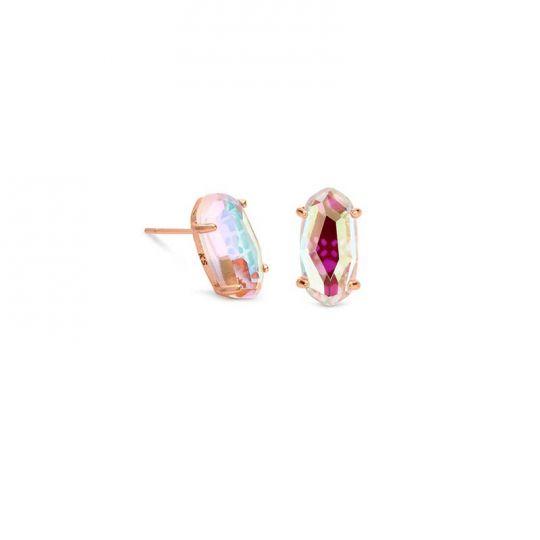 f2a2d28771cb Kendra Scott Betty Rose Gold Stud Earrings in Blush Dichroic Glass    Borsheims