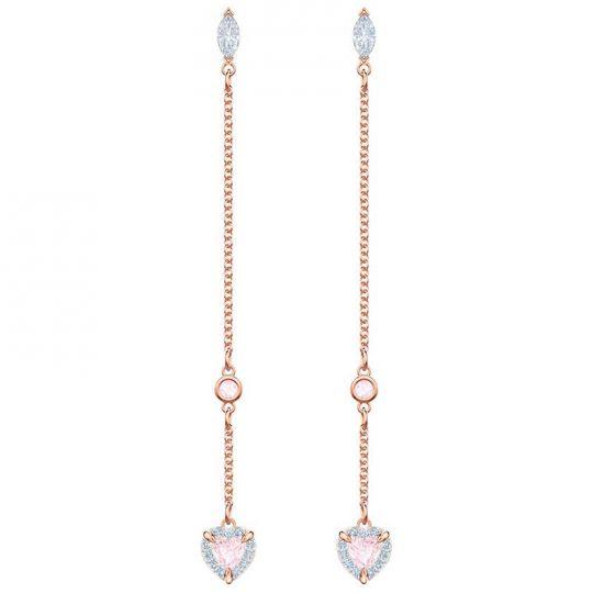 Swarovski One Rose Gold Drop Earrings