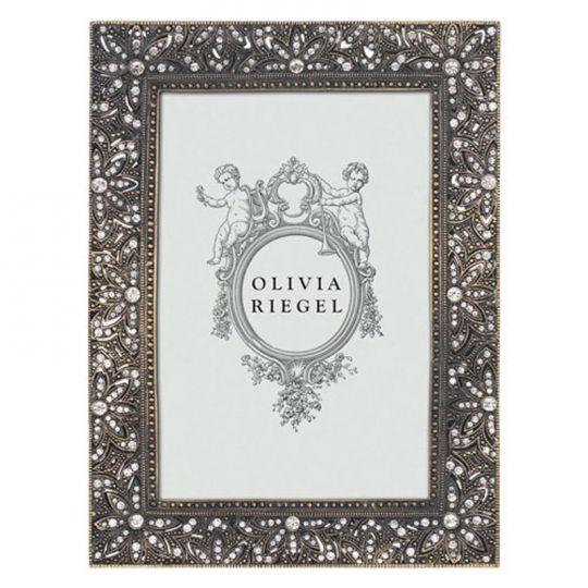"OLIVIA RIEGEL Crystal /""Harper/"" 5x7 Photo Frame New in Box"