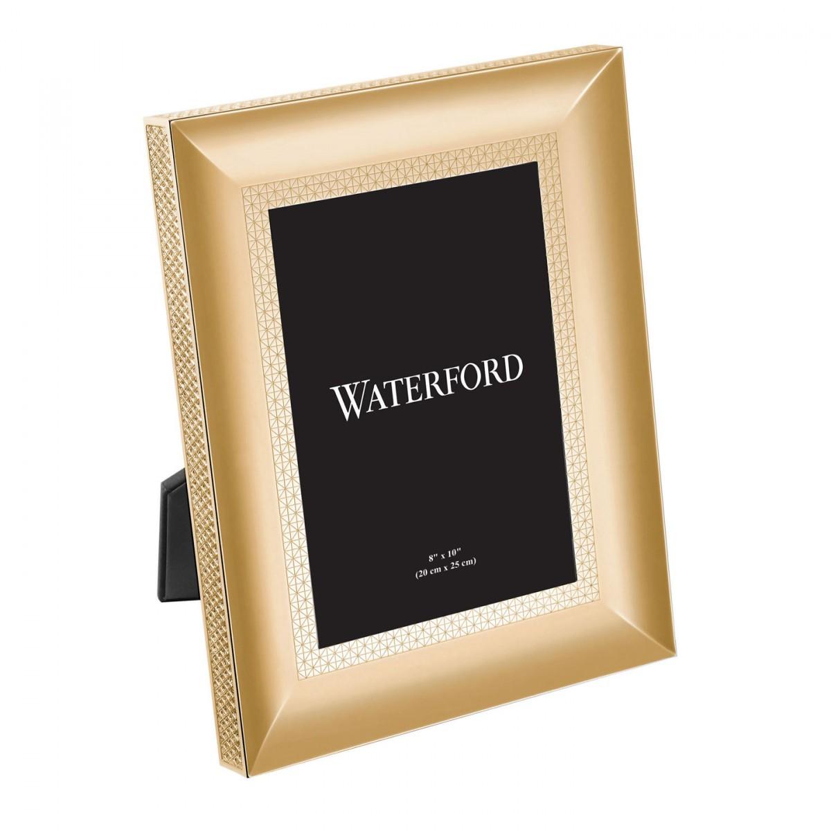 Waterford Lismore Diamond Gold Picture Frame 8x10 Borsheims