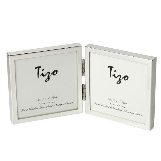 Tizo Silverplate Double Frame, 3x3