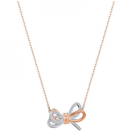 Swarovski Lifelong Bow Rose Gold Necklace Borsheims