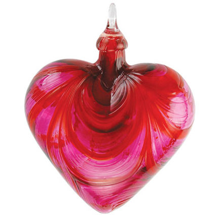 Glass Eye Studio Violet Chip Heart Ornament