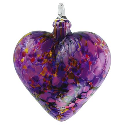 glass eye studio iris classic heart ornament - Glass Eye Studio
