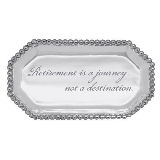 Mariposa Retirement Is A Journey Not A Destination Beaded Octagonal Statement Tray Borsheims