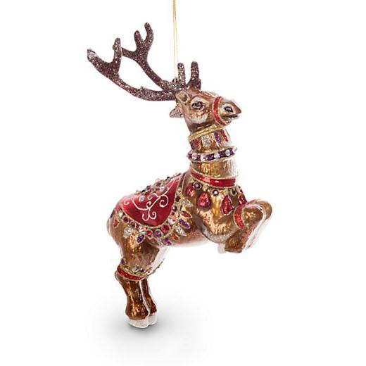 Jay Strongwater Dancer Reindeer Ornament   Borsheims
