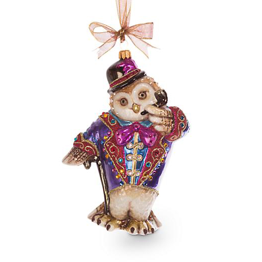 Jay Strongwater Jubilee Owl Ornament