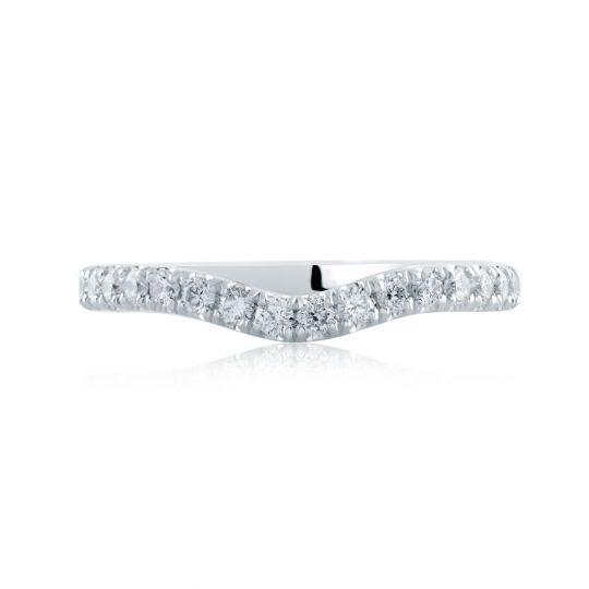 d48d8ddf381b0 A. Jaffe 14K White Gold Diamond Notched Wedding Band, 0.43aptw