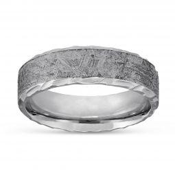 Cobalt Chrome Meteorite Wedding Band Size 11