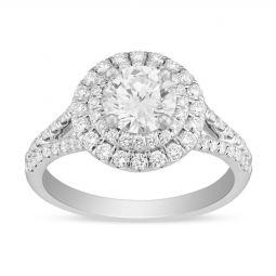 eb1eeebfcef ... Preset Diamond Engagement Rings Borsheims 14K White Gold Round Diamond  Ring with ...