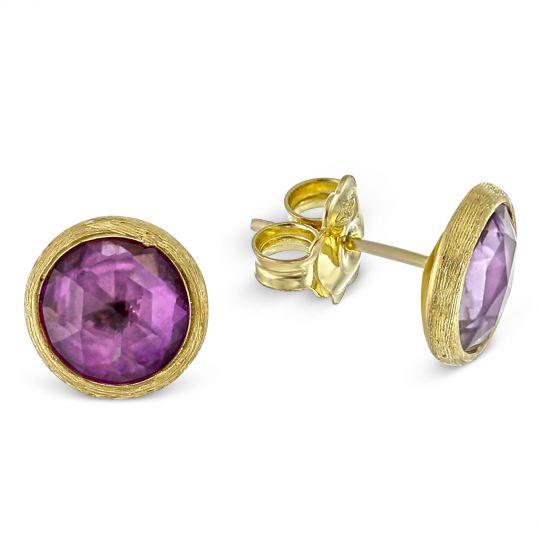 164c2ae05f48 Marco Bicego Jaipur Amethyst Stud Earrings in 18K Yellow Gold ...