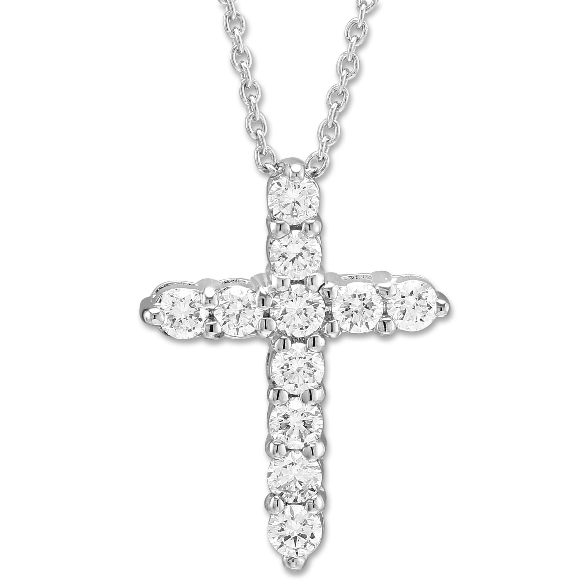 Roberto coin 18k white gold diamond cross pendantnecklace 045cttw roberto coin 18k white gold diamond cross pendantnecklace 045cttw aloadofball Gallery