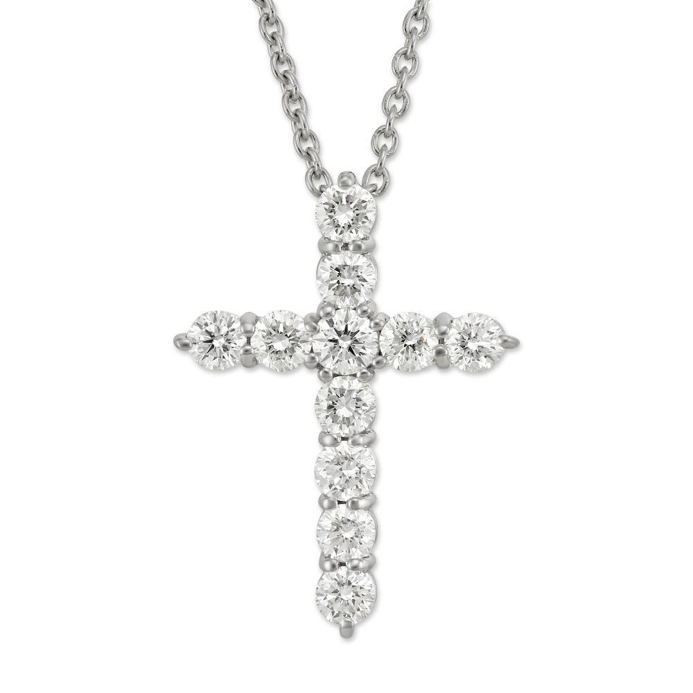 Roberto coin 18k white gold diamond cross pendantnecklace 144cttw roberto coin 18k white gold diamond cross pendantnecklace 144cttw aloadofball Gallery