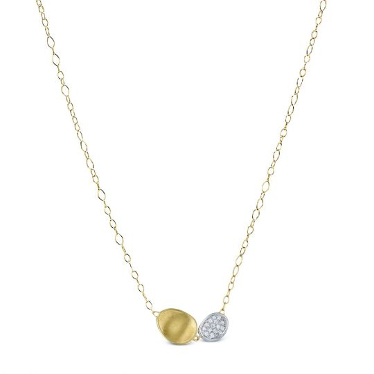 Marco Bicego Diamond Lunaria 18k Gold Necklace, 18L