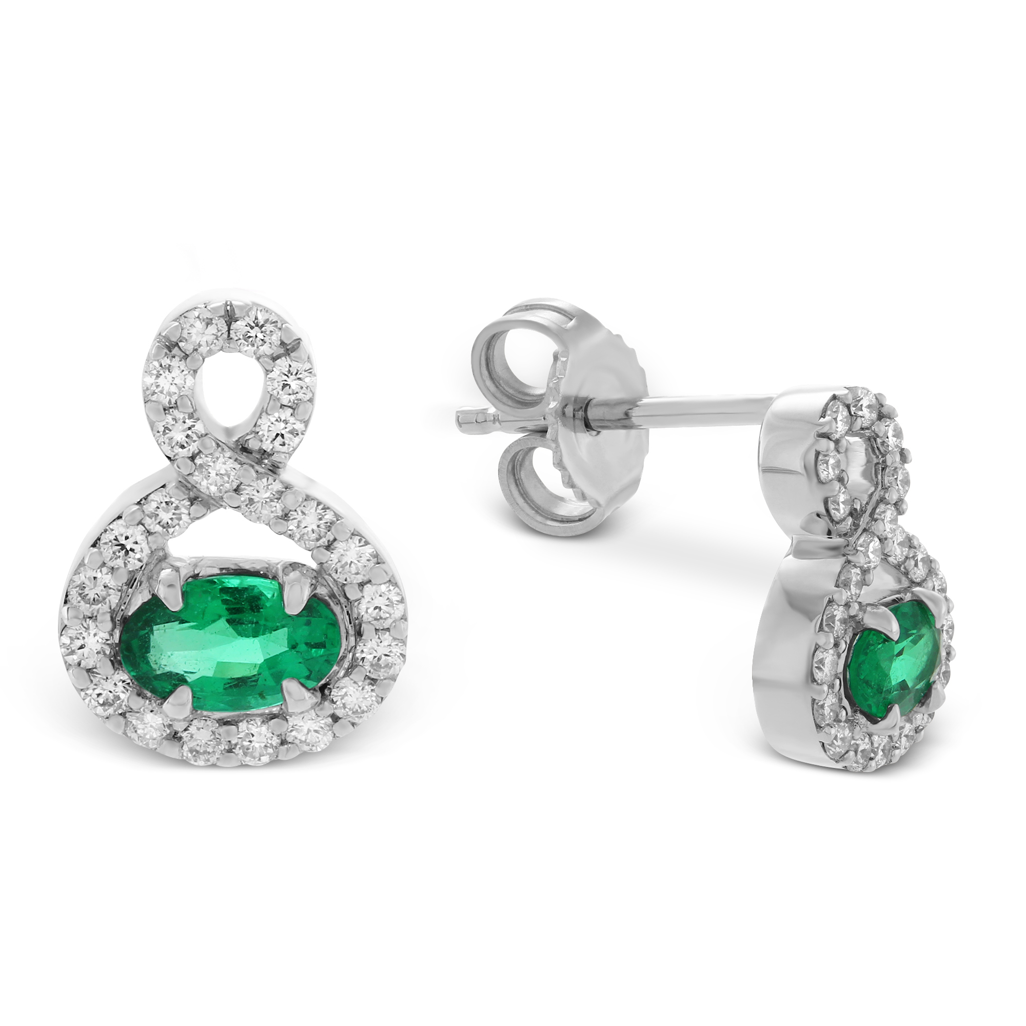 cluster short with diopside chrome jewellery earrings serpentine design emerald green