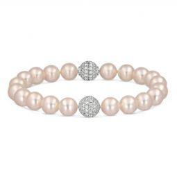 TARA Pearls Signature Collection 18K White Gold Diamond & White Cultured  Pearl Bracelet