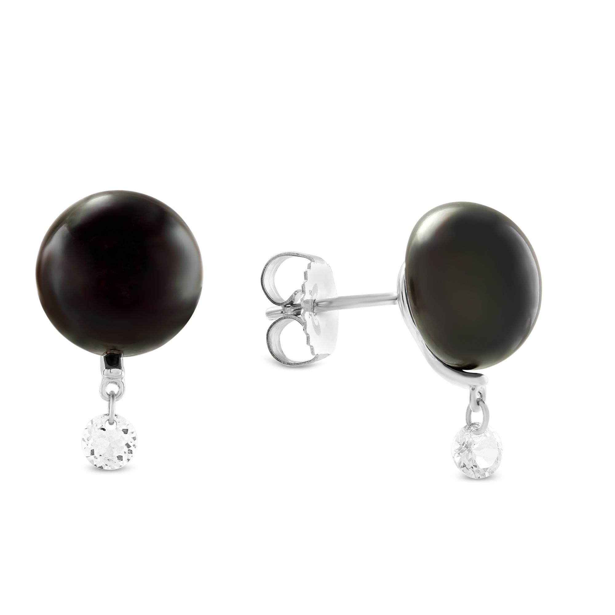 f5a314e9dc TARA Pearls Sterling Silver Freshwater Cultured Pearl & White Topaz ...