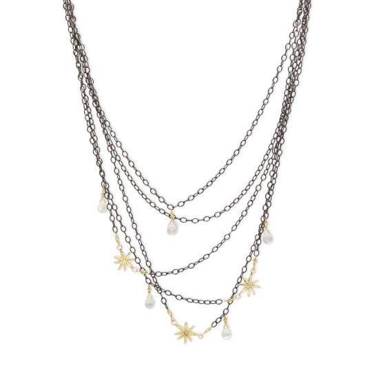 e976ada578de6 Robin Haley 14K Gold   Sterling Silver Diamond   Moonstone Necklace ...