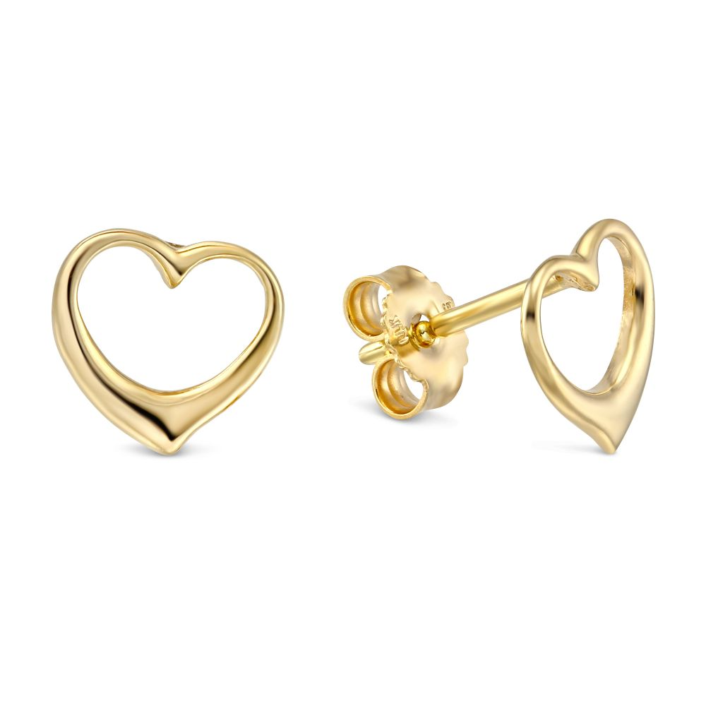to product stud wishlist heart earrings gold add loading balluccitoosi