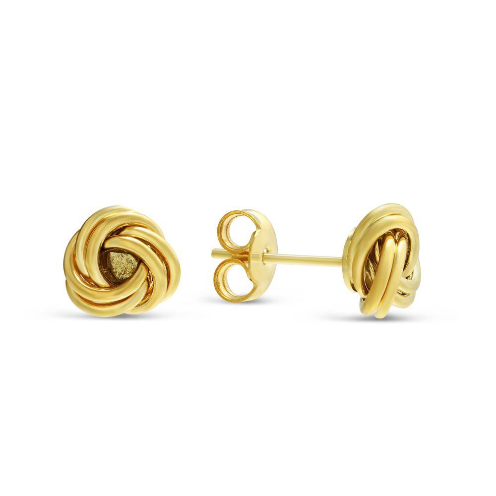 14K Yellow Gold Small Love Knot Earrings | Borsheims
