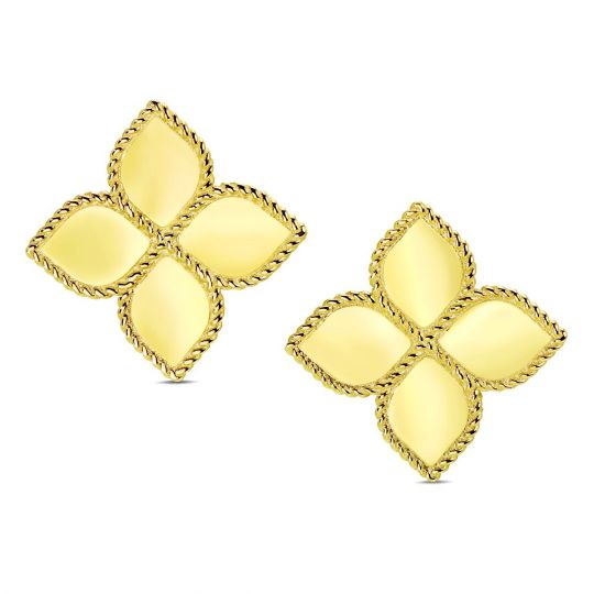 Roberto coin 18k yellow gold princess flower earrings borsheims roberto coin 18k yellow gold princess flower earrings mightylinksfo