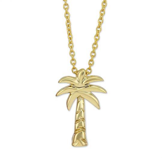 ebb004faab189 Roberto Coin 18K Yellow Gold Palm Tree Pendant/Necklace, 18