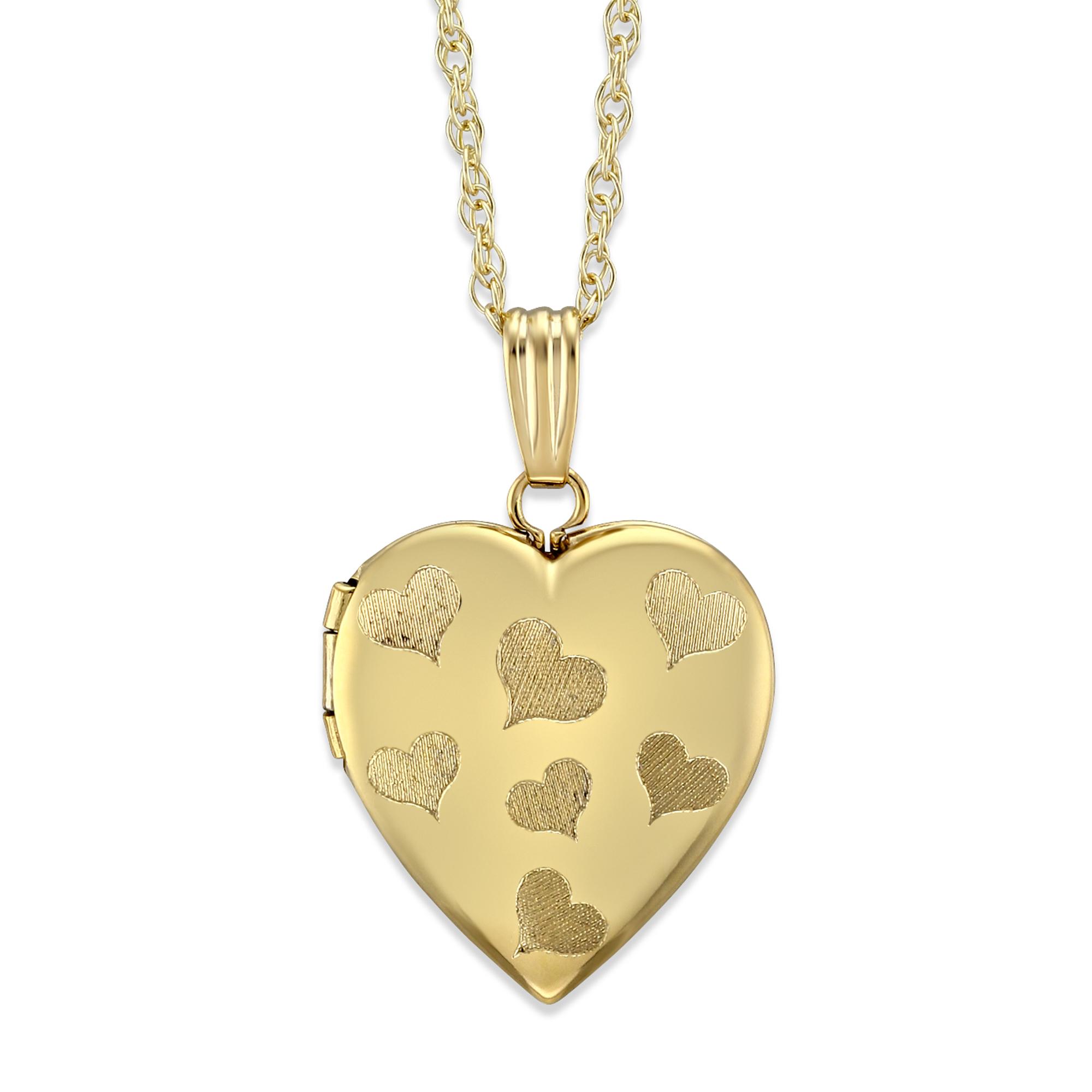 39f76c331d 14K Yellow Gold Heart Locket, 18