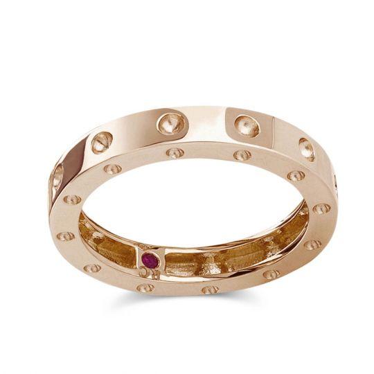 Roberto Coin 18k Pois Moi Ring, Rose Gold, Size 6.5