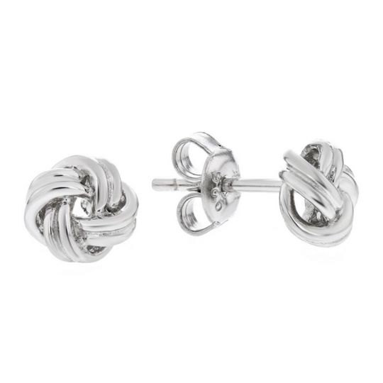7f1ac520bc9f8 Sterling Silver Love Knot Earrings, 7mm