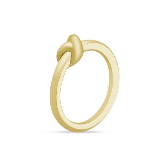 2a912ba45f8adb Yellow Tone Sterling Silver Amity Knot Ring, Size 6.5 | Borsheims