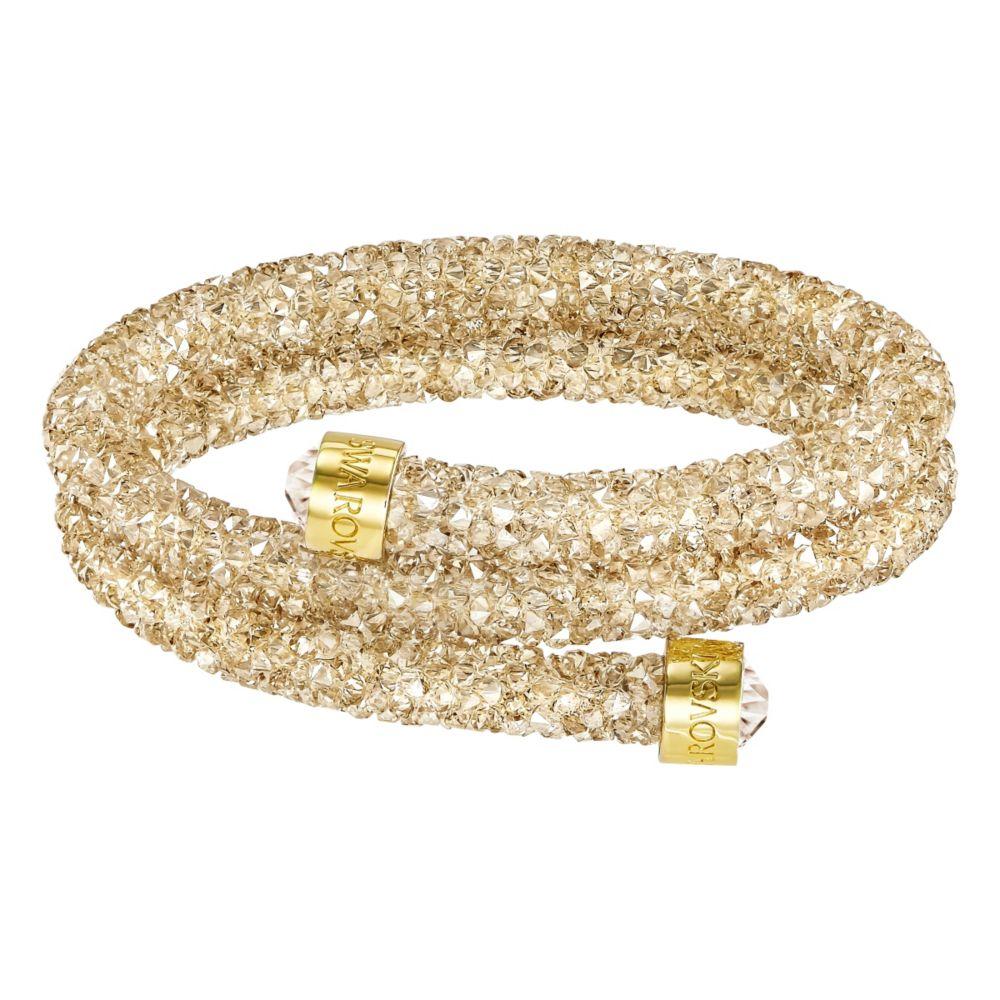 Swarovski Crystaldust Golden Crystal Double Bangle, Small