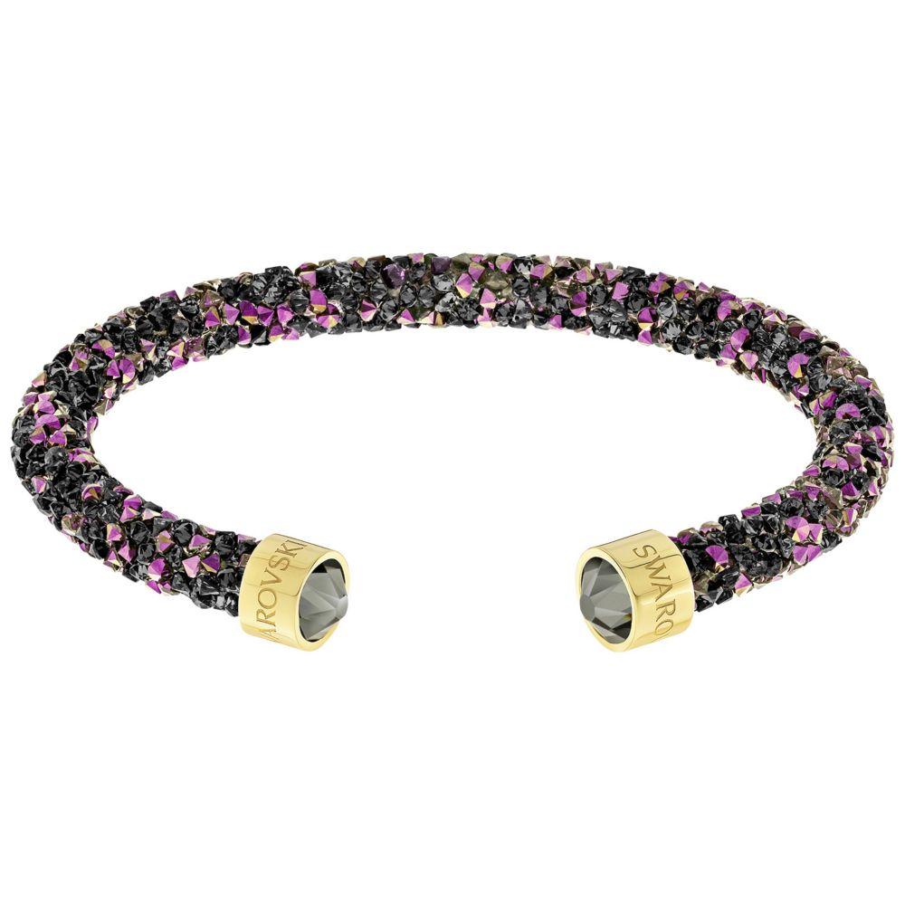 Swarovski Crystaldust Golden Black & Pink Crystal Cuff Bracelet, Small