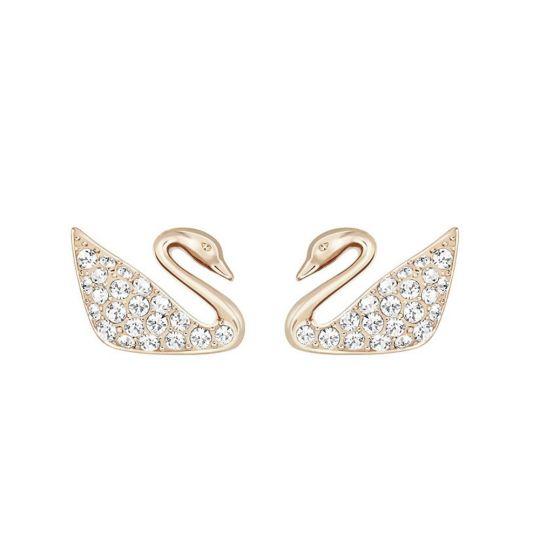 Swarovski Swan Mini Pierced Earrings  bb5b51e911
